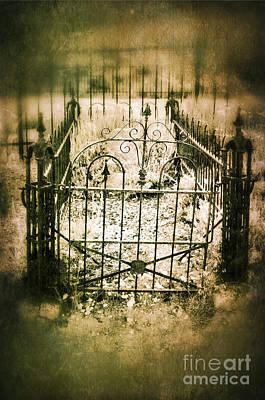 Fenced Grave Poster by Jill Battaglia