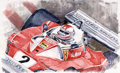 Ferrari 312 T 1976 Clay Regazzoni Poster