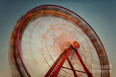 Ferris Wheel Ix Poster by Clarence Holmes