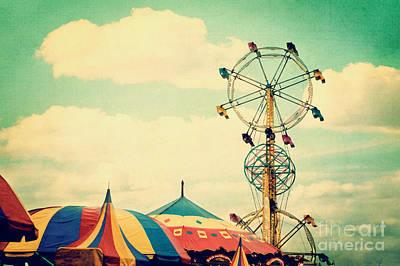 Ferris Wheel Poster by Kim Fearheiley