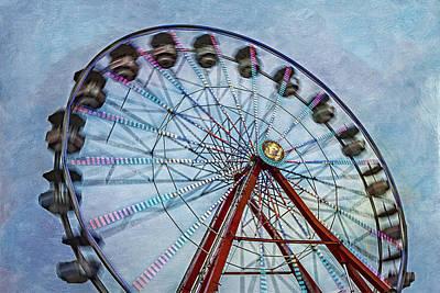 Ferris Wheel Poster by Susan Candelario