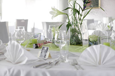 Festive Table In A Restaurant Poster by Stock4b-rf