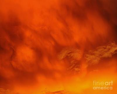 Fiery Clouds Poster