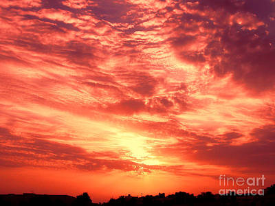 Fiery Sunrise Poster by Graham Taylor