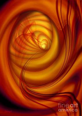 Poster featuring the digital art Fiery Tunnel by Johnny Hildingsson