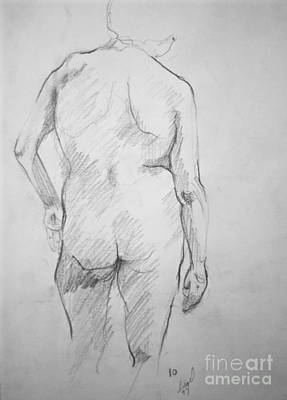 Poster featuring the drawing Figure Study by Rory Sagner