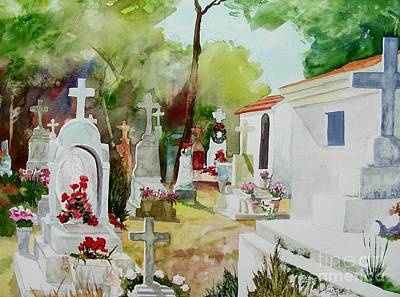 Poster featuring the painting Final Resting Place by Tom Riggs