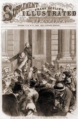 Financial Panic Of 1873.  Closing Poster