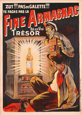 Fine Armagnac Advertisement Poster by Eugene Oge