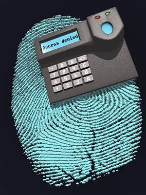 Fingerprint Scanner Poster by Laguna Design