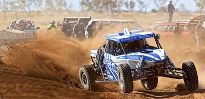 Poster featuring the photograph Finke Desert Race by Paul Svensen