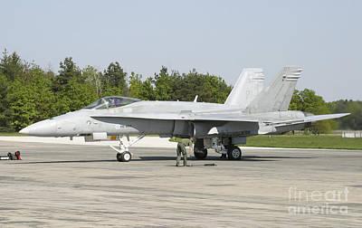 Finnish Air Force F-18c Hornet Poster by Timm Ziegenthaler