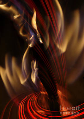 Poster featuring the digital art Fire Dance by Johnny Hildingsson