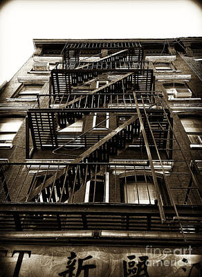 Fire Escape Poster by Thanh Tran