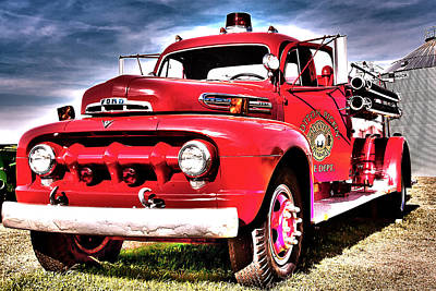 Poster featuring the photograph Fire Truck by Susi Stroud