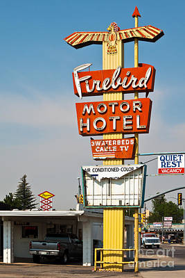 Firebird Motor Hotel Poster by Lawrence Burry