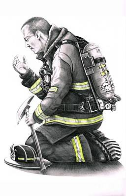 Firefighter Poster by Murphy Elliott