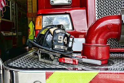 Fireman - Helmet Poster by Paul Ward