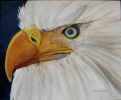 Firemen's Eagle Poster by Yvonne Knight