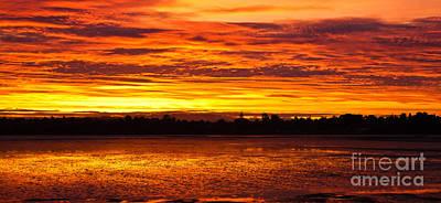 Firery Sunset Sky Poster by John Buxton