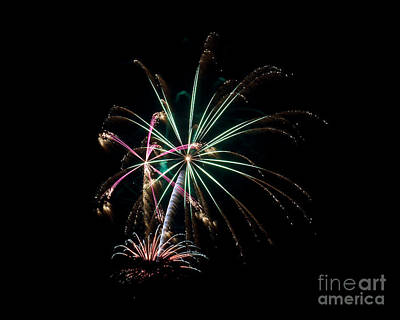 Poster featuring the photograph Fireworks 11 by Mark Dodd