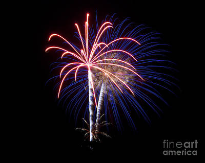 Poster featuring the photograph Fireworks 12 by Mark Dodd