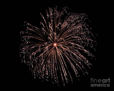 Poster featuring the photograph Fireworks 3 by Mark Dodd