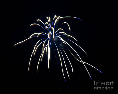 Poster featuring the photograph Fireworks 4 by Mark Dodd