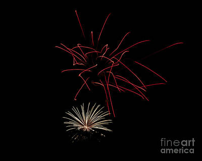 Poster featuring the photograph Fireworks 6 by Mark Dodd