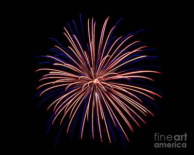 Poster featuring the photograph Fireworks 7 by Mark Dodd