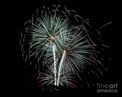 Poster featuring the photograph Fireworks 8 by Mark Dodd