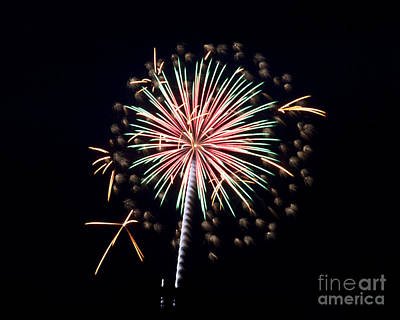 Poster featuring the photograph Fireworks 9 by Mark Dodd