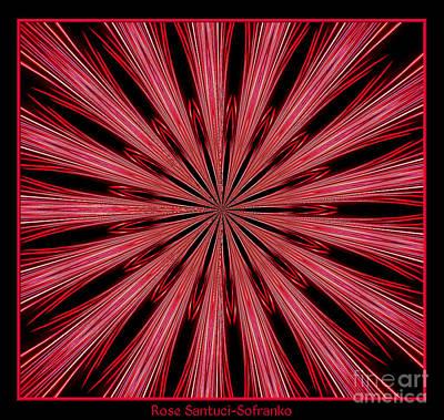 Fireworks Kaleidoscope 15 Poster by Rose Santuci-Sofranko