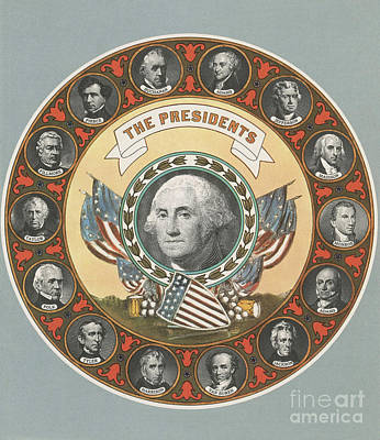 First 15 U.s. Presidents Poster by Photo Researchers