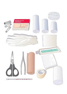 First Aid Kit Equipment, Artwork Poster