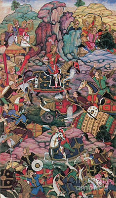 First Battle Of Panipat, 1526 Poster by Photo Researchers