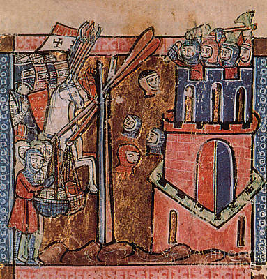 First Crusade Germ Warfare Siege Poster by Photo Researchers