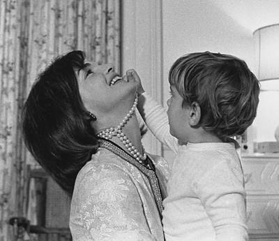 First Lady Jacqueline Kennedy Laughs Poster by Everett