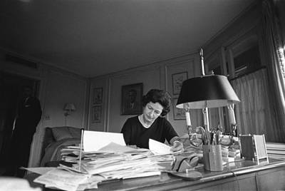 First Lady, Lady Bird Johnson, Working Poster