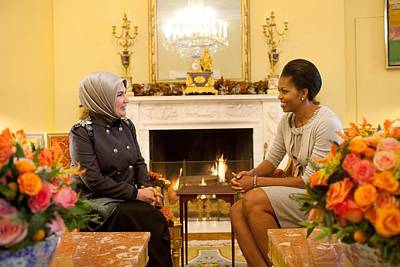 First Lady Michelle Obama Meets Poster by Everett
