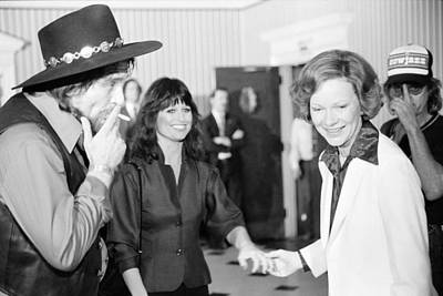 First Lady Rosalynn Carter With Waylon Poster