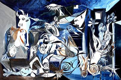Fish Guernica Poster