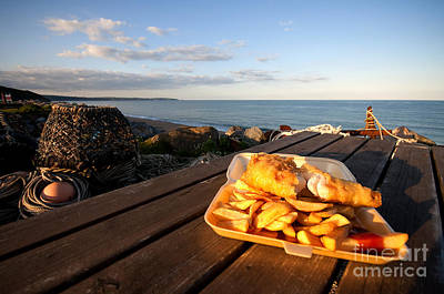Fish 'n' Chips By The Beach Poster