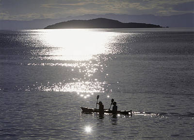 Fishermen Going Past The Island Of Poster