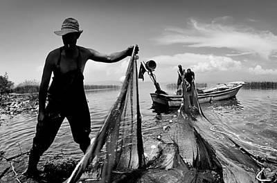 Fishing - 6 Poster by Okan YILMAZ