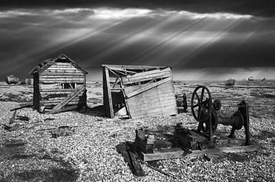 Fishing Boat Graveyard 4 Poster by Meirion Matthias