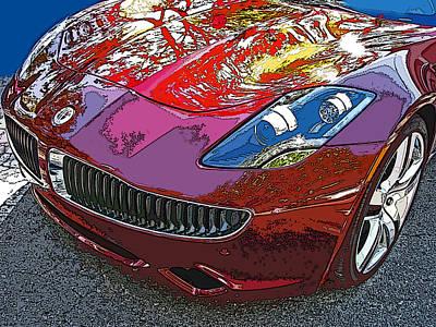 Fisker Karma Hybrid Electric Car Poster