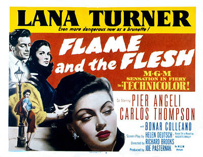Flame And The Flesh, Carlos Thompson Poster by Everett