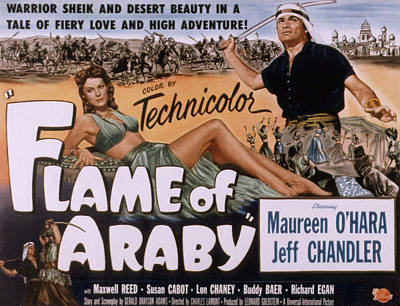 Flame Of Araby, Maureen Ohara, Jeff Poster by Everett