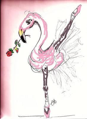 Flamenco Flamingo Poster